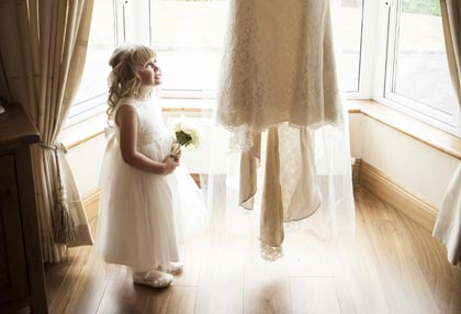 mother and daughter wedding photography ideas, wedding morning ideas, flowergirl photo ideas, weding dress, flowers, flowergirl, daughter, bridesmaid, silhouette, wedding photographer
